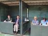 Dressur – Richter und Protokollanten, v. li. Carsten Heine, Michael Schulz, Uwe Hartig und Sinja Meyer (Foto: Birgit Meyer-Thaut)
