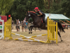 Katrin Stöver als Teufel beim Jump & Run
