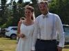 das Hochzeitspaar Katrin Stöver und Heinrich Sevecke ganz gerührt