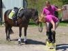Die Schnellsten beim Kistenlauf – Charlie, Kathy Bostelmann und Iris Wilhelm