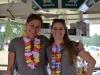 Gesche Reimers und Katrin Stöver im Getränkewagen