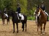 Siegerehrung E-Dressur mit Lena Konau und Sylvia Nack
