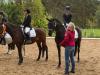 Siegerehrung A-Dressur, links Iris Wilhelm / Duncan, rechts Lena Konau / Bella