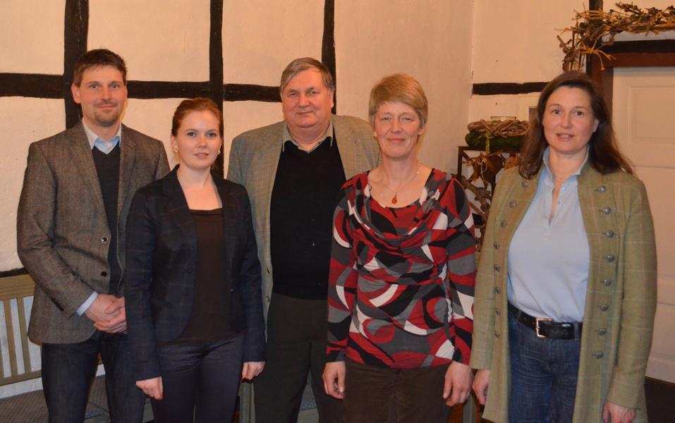der aktuelle Vorstand, von links Carsten Heine, Christin Heiseke-Kiefer, Reinhard Müller, Maren Ludwig, Birgit Meyer-Thaut