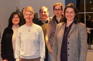 Der neue Vorstand (v.li) mit Laura Hulboy, Maren Ludwig, Reinhard Müller, Sinja Meyer und Birgit Meyer-Thaut