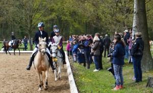 Ehrenrunde im Reiterwettbewerb