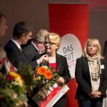 Iris Wilhelm bei der Verleihung (Foto: Tamme)