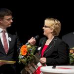 Dirk Böge interviewt Iris Wilhelm (Foto: Tamme)